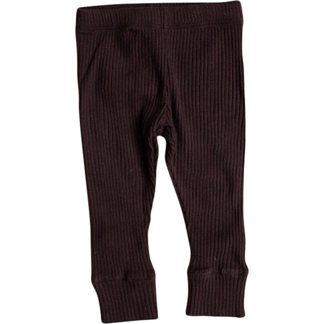 The Ribbed Legging, Chocolate