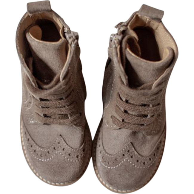 The Suede Boot, Taupe
