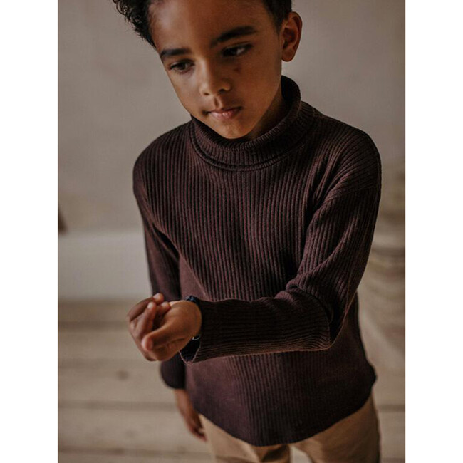 The Ribbed Turtleneck, Chocolate