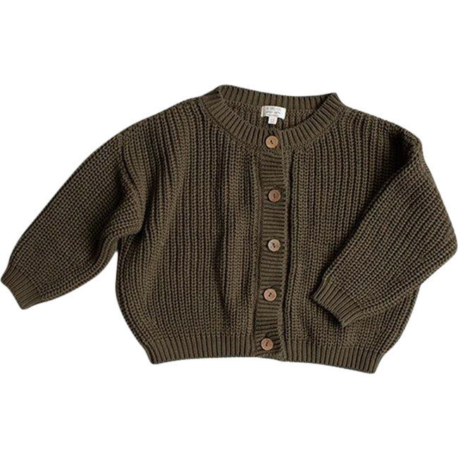 The Chunky Cardigan, Olive
