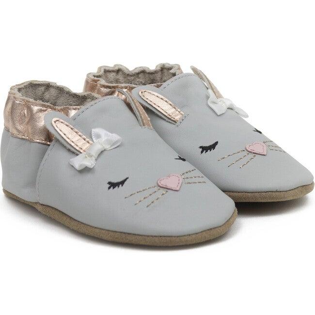 Heart Bunny Shoe, Grey