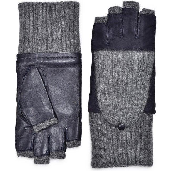 Women's Suede Gloves, Navy