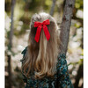 Classic Bow Clip, Tomato Double Gauze - Hair Accessories - 2