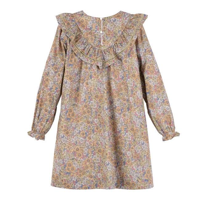 Cora Dress, Sage & Brown Floral