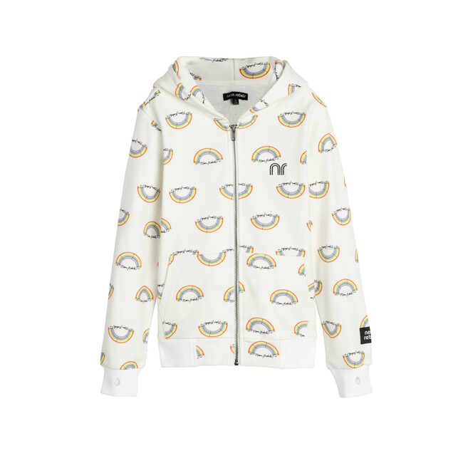 Rowan Sweatshirt Hoodie, Marshmallow Rainbow