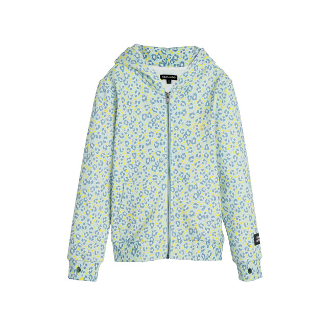 Rowan Sweatshirt Hoodie, Mint Leopard