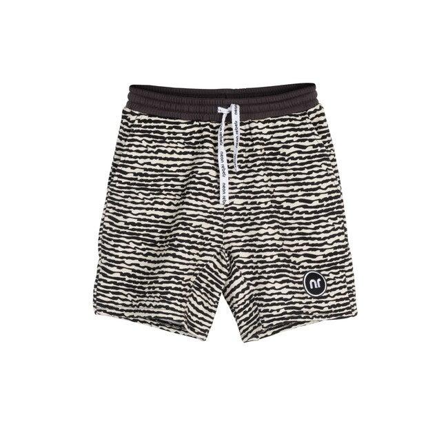 Dash Sweatshort, Faded Black Fun Stripe - Shorts - 1