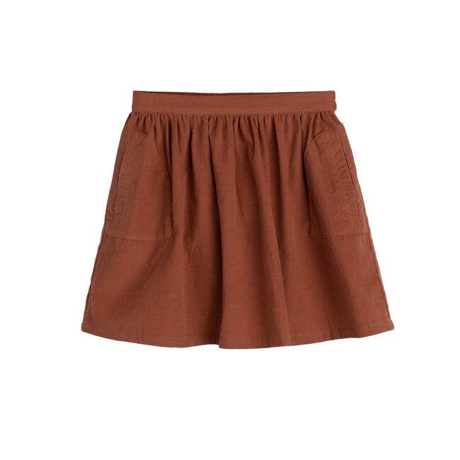 Cassie Cord Skirt, Cinnabar