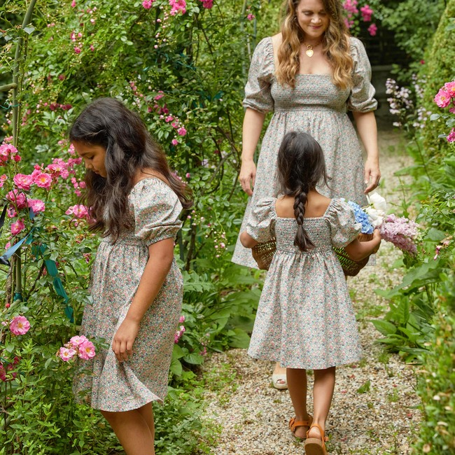 Celeste Smocked Dress, Flower Garden