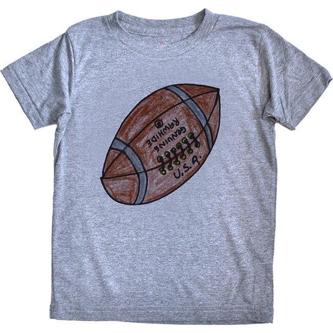 Football Tee, Grey Triblend