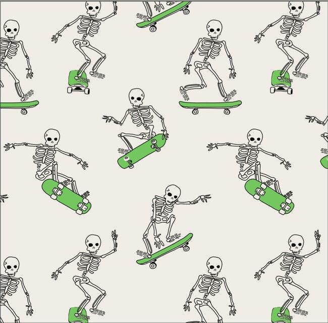 Dahl Halloween Pajama Set, Skeleton Skater