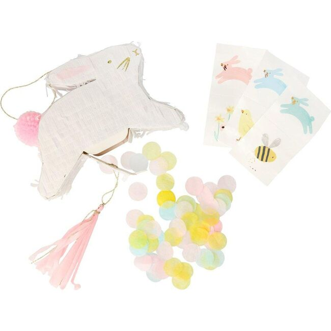 Leaping Bunny Pinata Favours, White - Favors - 1
