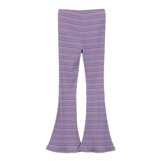 Janis Flare Ribbed Legging, Lavender Multi