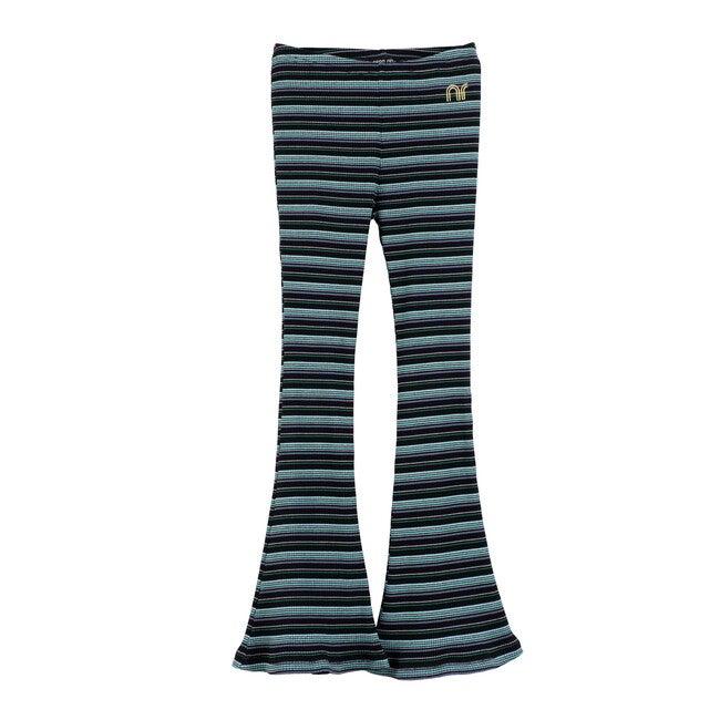 Janis Flare Ribbed Legging, Black Multi