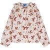 Lilliana Long Sleeve Collared Top, Light Pink Squirrels - Shirts - 1 - thumbnail