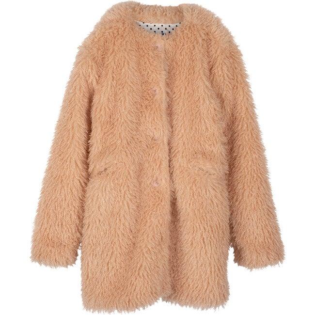 Women's Gemma Shaggy Coat, Dusty Rose