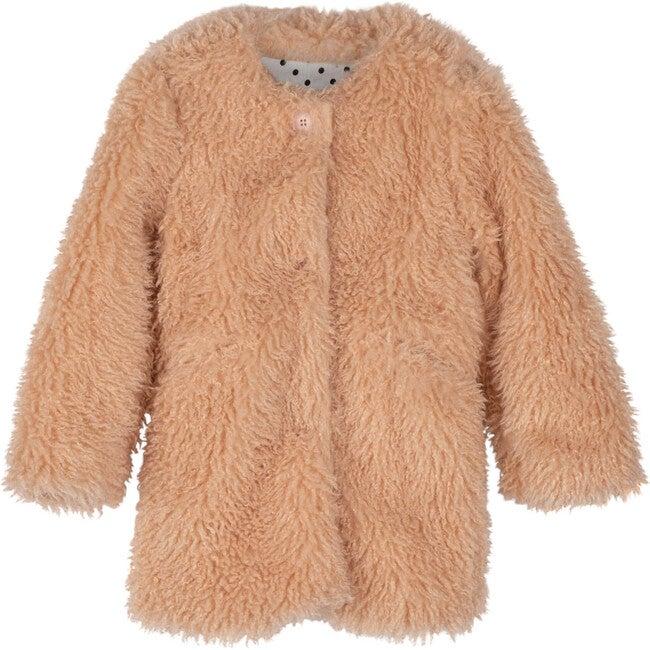 Gemma Shaggy Coat, Dusty Rose