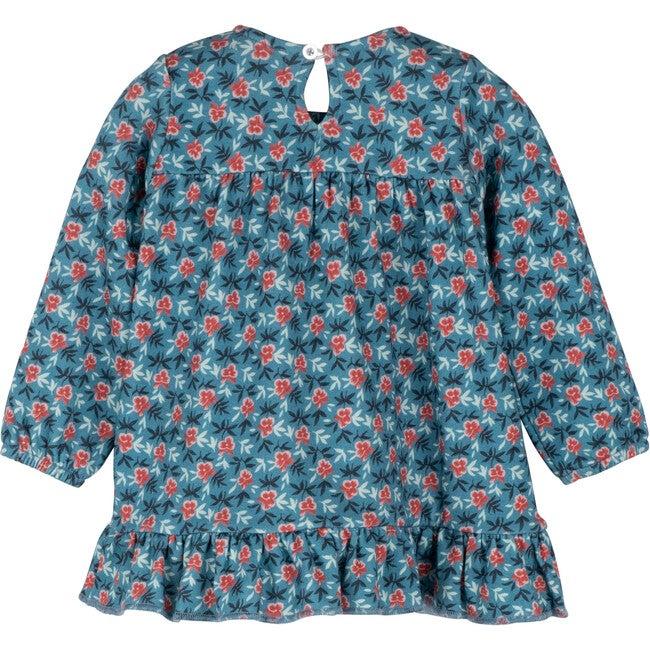 Baby Deja Jersey Dress, Petrol Pansies