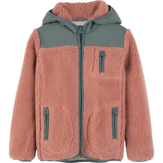 Banks Sherpa Front Jacket, Rose Multi