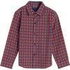 Max Button Down, Red & Blue Check - Shirts - 1 - thumbnail