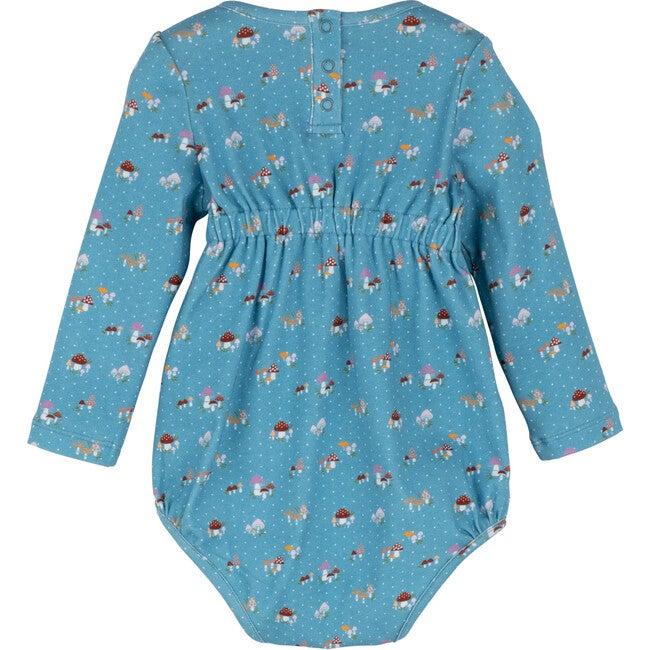 Baby Alma Printed Jersey Bubble, Blue Mushrooms