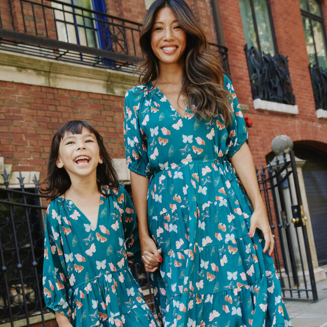 Women's Hadley Dress, Mediterranea Butterflies