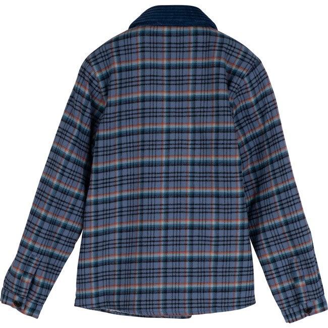 Sam Sherpa Shirt, Blue Colorful Plaid