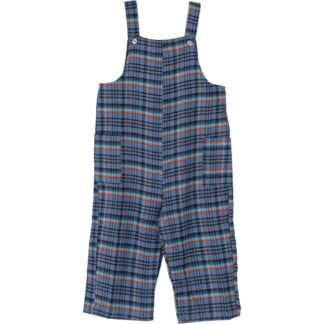 Baby Mattias Overall, Blue Colorful Plaid