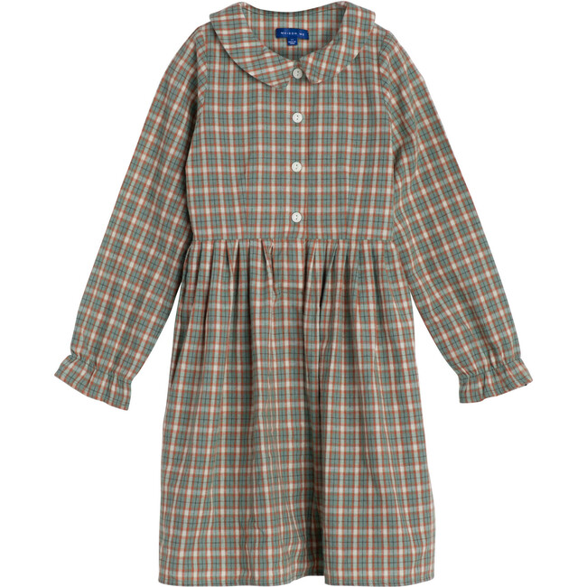 Emma Collared Dress, Green & Red Check