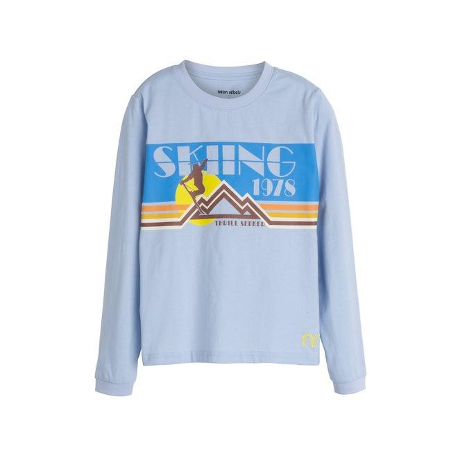 Blaze Long Sleeve Graphic Tee, Retro Ski