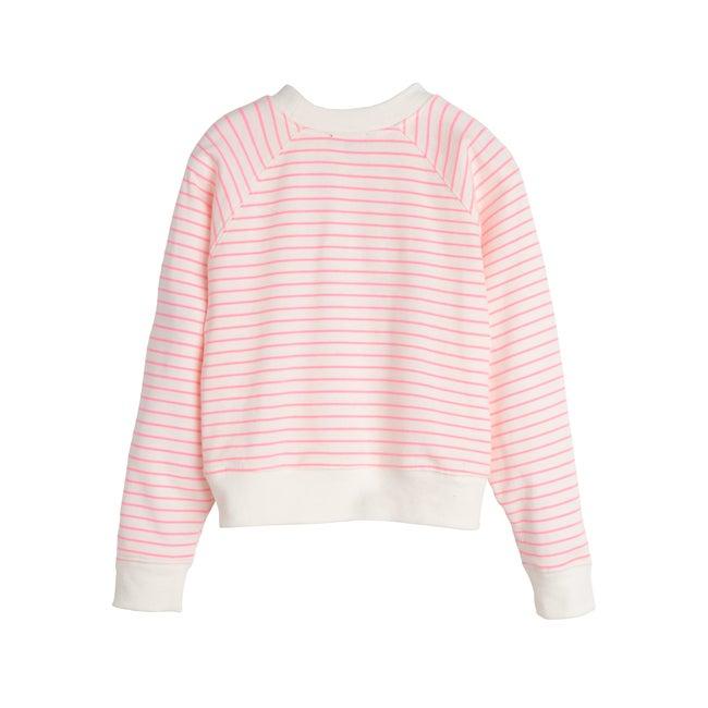 Ava Raglan Cropped Crewneck Sweatshirt, Pink Unicorn