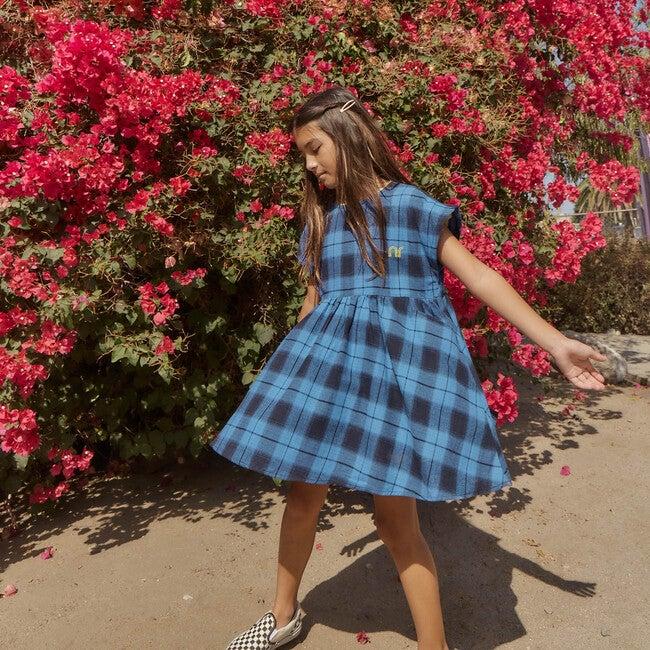 Zadie Skater Dress, Blue Plaid