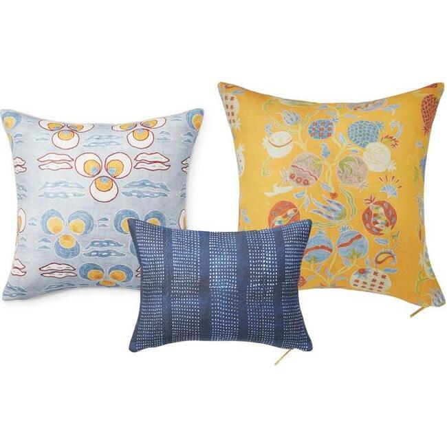 Classic Sofa Pillow Set, Sky