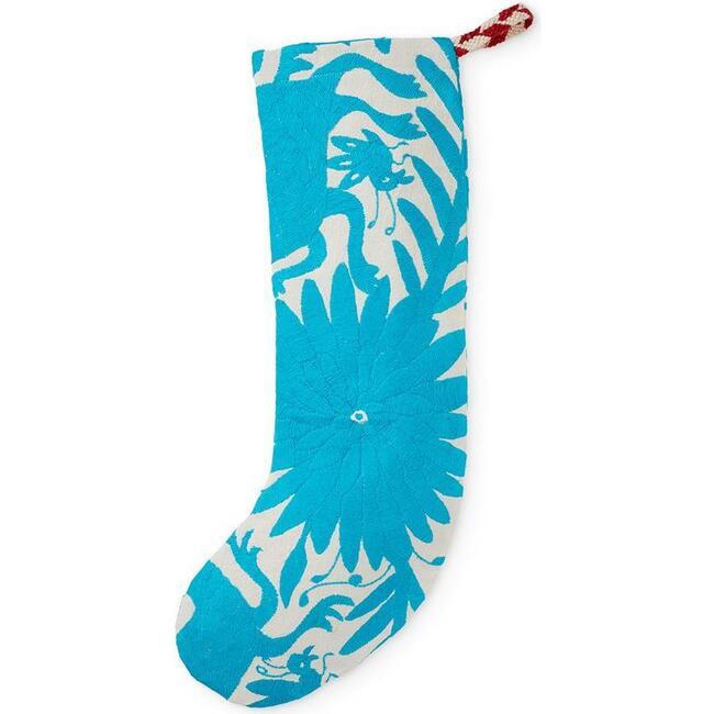Otomi Holiday Stocking, Turquoise