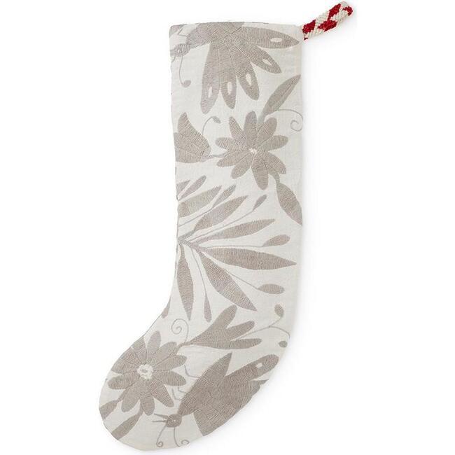 Otomi Holiday Stocking, Grey