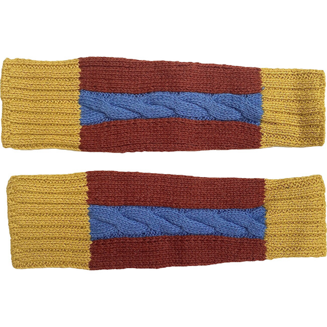 Multi Cable Leg Warmers Rust/Sky/Must