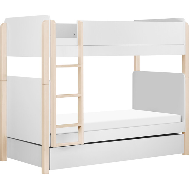 Universal Twin Storage Trundle Bed, White